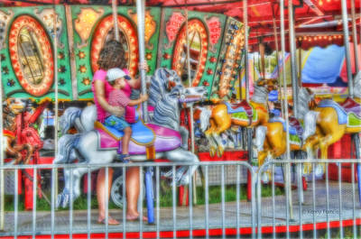 Wooden Platform Photograph - Dreaming Of Carousels by Kenny Francis