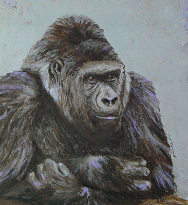 Gorilla Painting - Dreaming Of Dinner by Margaret Saheed