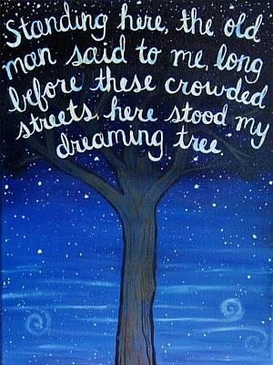 Fan Art Painting - Dreaming Tree Lyric Art by Michelle Eshleman
