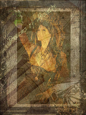 Dreams Of Absinthe - Steampunk Print by Absinthe Art By Michelle LeAnn Scott