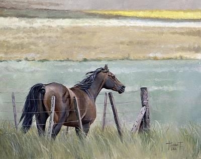 Fencing Painting - Dreams Of Freedom, 2010 by Cruz Jurado Traverso