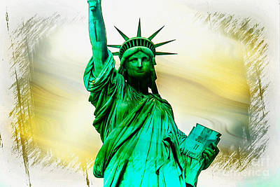 Statue Of Liberty Photograph - Dreams Of Liberation by Az Jackson