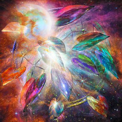 Abstract Hearts Mixed Media - Dreams Of Love by Carol Cavalaris