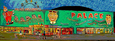 Asbury Park Painting - Dreams Of The Palace by Patricia Arroyo