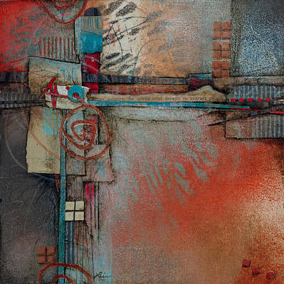 Abstract Collage Mixed Media - Dreams To Instruct					 by Laura  Lein-Svencner