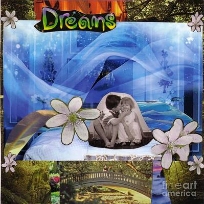 Collage Mixed Media - Dreams Version 1 by Leslie Jennings