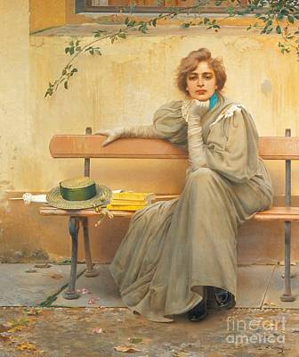 19th Century Painting - Dreams  by Vittorio Matteo Corcos