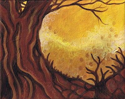 Dreamscape In Fall Tones #1 Of 4 Print by Laura Noel