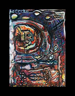 Subconscious Painting - Dreamsequence No. 2 - Monster In A Bubble by Mimulux patricia no