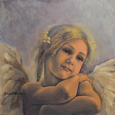 Dreamy Angel Print by Dorina  Costras