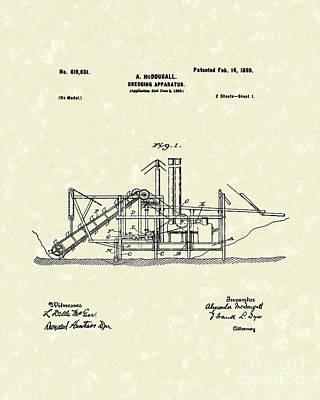 Dredging Apparatus 1899 Patent Art Print by Prior Art Design