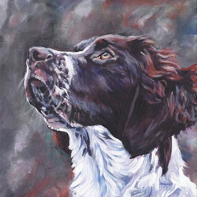 Partridge Painting - Drentsche Patrijshond by Lee Ann Shepard