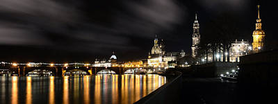 Dresden At Night Print by Steffen Gierok