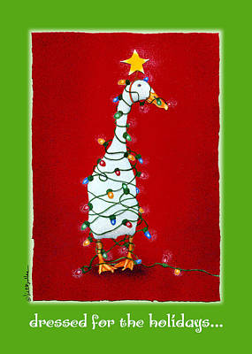 Ducks Painting - Dressed For The Holidays... by Will Bullas