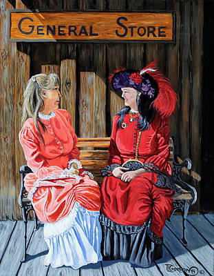 Log Cabin Painting - Dressed For Town by Timithy L Gordon