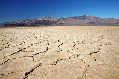 Dry Lake Photograph - Dried Mud In Salt Pan, Panamint Valley by David Wall