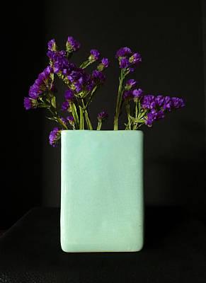 Dried Purple Flowers Print by Patricia Januszkiewicz