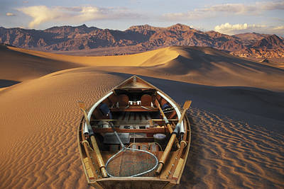 Drift Boat Photograph - Drift Boat Resting On Sand Dunes In by Ron Sanford