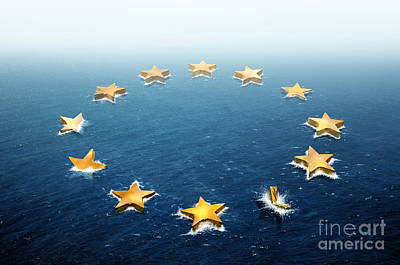 Drifting Europe Print by Carlos Caetano