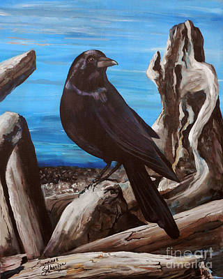 Lakefront Painting - Driftwood Darlin by Suzanne Schaefer