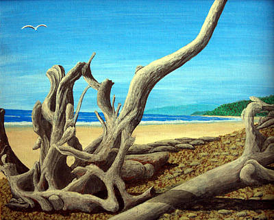 Landscapes Painting - Driftwood10x8 by Frederic Kohli