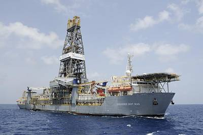 Drillship Discoverer Deep Seas Print by Bradford Martin