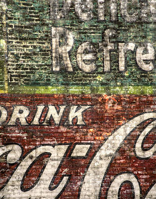 Brick Photograph - Drink Coca-cola 1 by Scott Norris