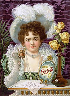 Coca Cola Signs Painting - Drink Coca Cola 5cents by Movie Poster Prints