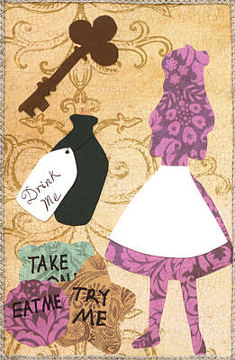 March Hare Mixed Media - Drink Me Eat Me by Savannah Bertozzi