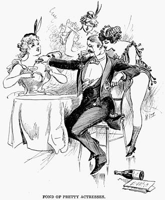 Drinking, 1895 Print by Granger