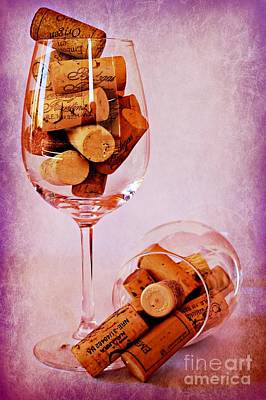 Corks Photograph - Drinking Problem by Clare Bevan