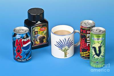 Pepsi Max Photograph - Drinks Containing Caffeine by Martyn F. Chillmaid