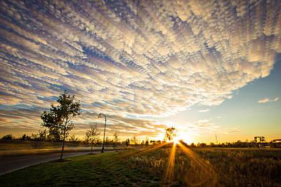 Sun Rays Digital Art - Drive By Sunset  by Jackie Novak