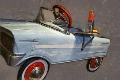 Childs Bedroom Art Digital Art - Drive In Pedal Car by Michelle Calkins