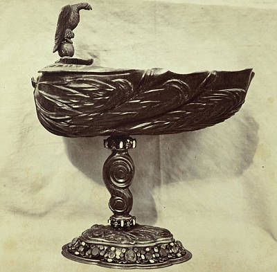 Louvre Drawing - Driven Metal Bowl With Eagle, From The Louvre by Artokoloro