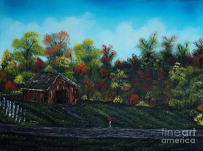 Driving In The Country Print by Nature's Effects - Heather Seward