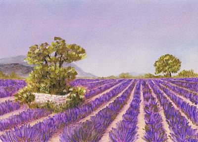 Drome Provence Print by Anastasiya Malakhova