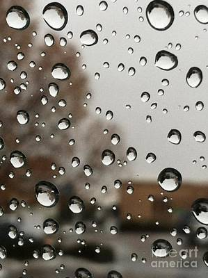 Droplet Patterns Print by Barbara Chase