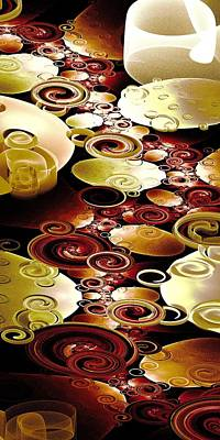 Big Digital Art - Drops And Ripples by Anastasiya Malakhova