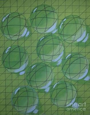 Drops Of Lime Print by Debra Acevedo
