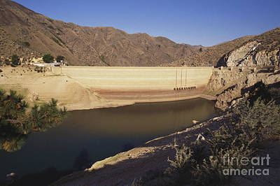 Drought, Arrowrock Dam Print by William H. Mullins