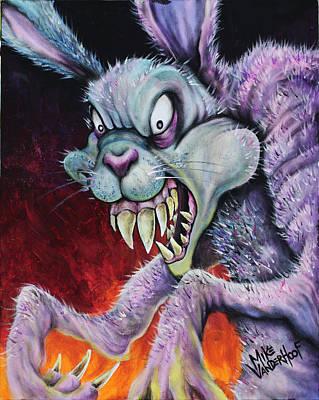 Drugs Bunny Original by Michael Vanderhoof