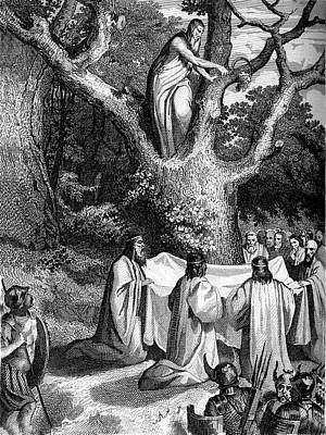 Druids Worshipping Print by Collection Abecasis