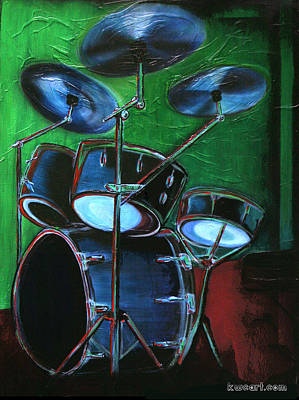 Abstract Art Painting - Drum Solo by KWC Art