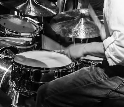 Instrument Photograph - Drummer At Work by Photographic Arts And Design Studio
