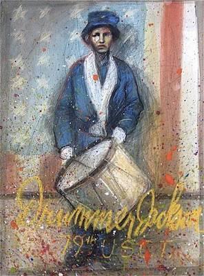 Drummer Jackson Original by Gregory DeGroat