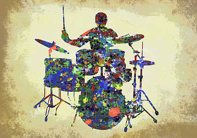 Jazz Digital Art - Drums In The Spotlight by Daniel Hagerman