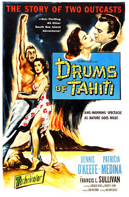 Drums Of Tahiti, Us Poster, From Left Print by Everett