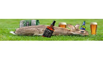 Drunk Rabbit Original by Nikola Babic