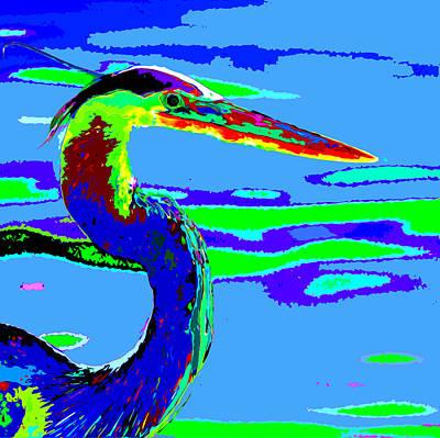 Surrealism Photograph - Drunken Heron by Norman Johnson